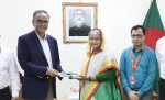 CAG submits  Audit and Accounts Report to the Honorable Prime Minister Sheikh Hasina